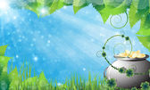 St. Patrick's Day spring background — Stock Vector