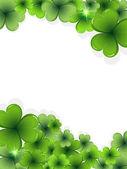 St. Patrick's Day clover frame — Stock Vector