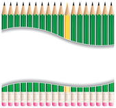 Pencil Frame — Stock Vector