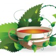Stock Vector: Cup of herbal tea