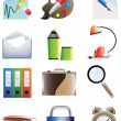 Stock Vector: Set of office icons