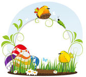 Funny Easter background — Stock Vector