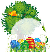 Easter natural background — Stock Vector