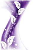 Purple floral background — Stock Vector