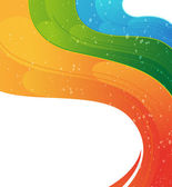 Wavy rainbow background — Stock Vector