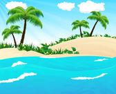 Wild tropical seascape — Stock Vector