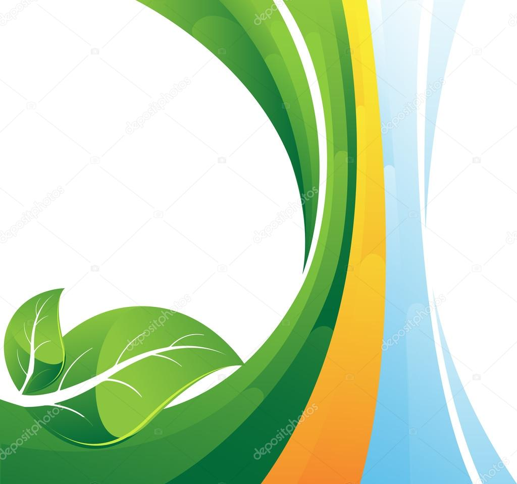 Hojas de color verde sobre fondo rayas vector de stock - Color verde hoja ...