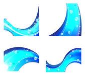 Elementos abstractos agua — Vector de stock