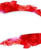 Red petals — Cтоковый вектор