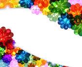 Flores brilhantes mágicas — Vetor de Stock