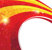 Red and yellow concentric background — Stockvector
