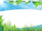 草和树叶 — 图库矢量图片