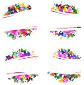 Kelebek çok renkli silhouettes — Stok Vektör