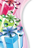 Sparkling gifts — Stock Vector