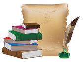 Materiali di scrittura antiche — Vettoriale Stock