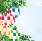 Disco balls Christmas ornaments — Stock Vector