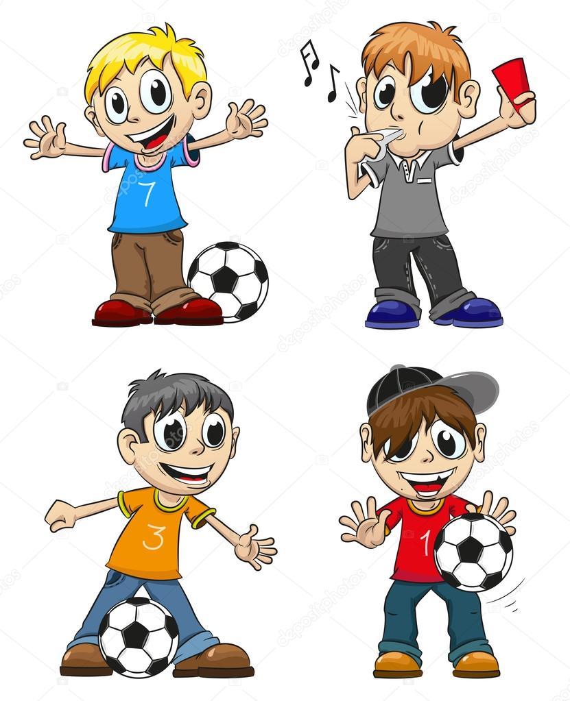 足球运动员和裁判员