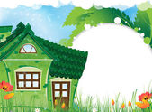 Rural house — Stock Vector