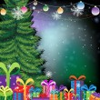 Christmas tree background — 图库矢量图片