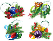 Christmas decoration elements — Stock Vector