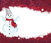 счастливый снеговик — Cтоковый вектор
