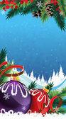 рождественские безделушки в снегу — Cтоковый вектор