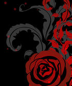Red rose vintage background — Stockvector