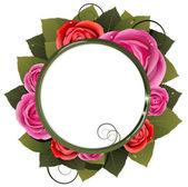 Buquê de rosas vermelhas e cor de rosa — Vetorial Stock