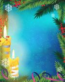 Christmas candles — Wektor stockowy