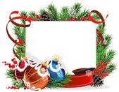 圣诞树装饰用红丝带 — 图库矢量图片