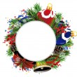 Stock Vector: Christmas wreath