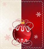 červená vánoční koule — ストックベクタ