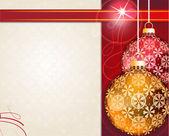 Retro style Christmas ornaments — ストックベクタ