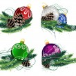 Christmas decorations set — Stock Vector