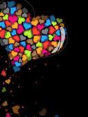 Colorful Valentine hearts. — Stock Vector
