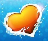 Heart in water — Διανυσματικό Αρχείο
