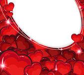 Valentine hearts background — Stock Vector