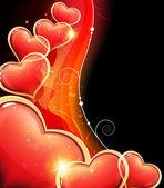 Valentine hearts wave — Stock Vector