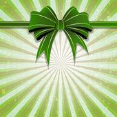 Green bow — Stock Vector