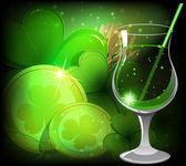Magical Leprechaun drink — Stock Vector