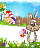 Happy Easter nature background — Vector de stock