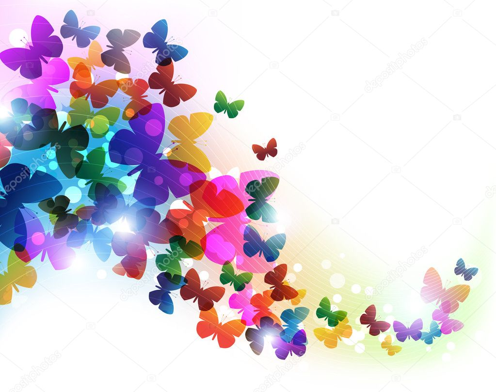 Colorate farfalle volanti vettoriali stock stekloduv for Foto farfalle colorate