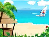 Tropical resort — Stock Vector