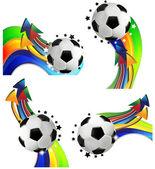 Concept sportif de football — Vecteur