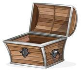 Puste drewniane klatki piersiowej — Wektor stockowy