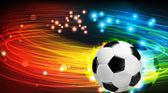 сияющий футбольный мяч — Cтоковый вектор