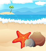 Tropical beach  — Stock Vector
