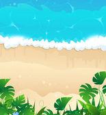 Tropical ocean shore — Stock Vector