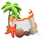 Tropical vacation concept — Stock Vector