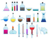 Chemical laboratory ware — Stock Vector